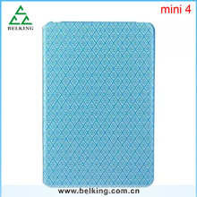 Diamond PU Flip Leather Folder Case For ipad mini 4 /Stand Case For Ipad mini 4