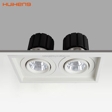 2 Light LED Recessed Rectangle Downlight 18w for Project