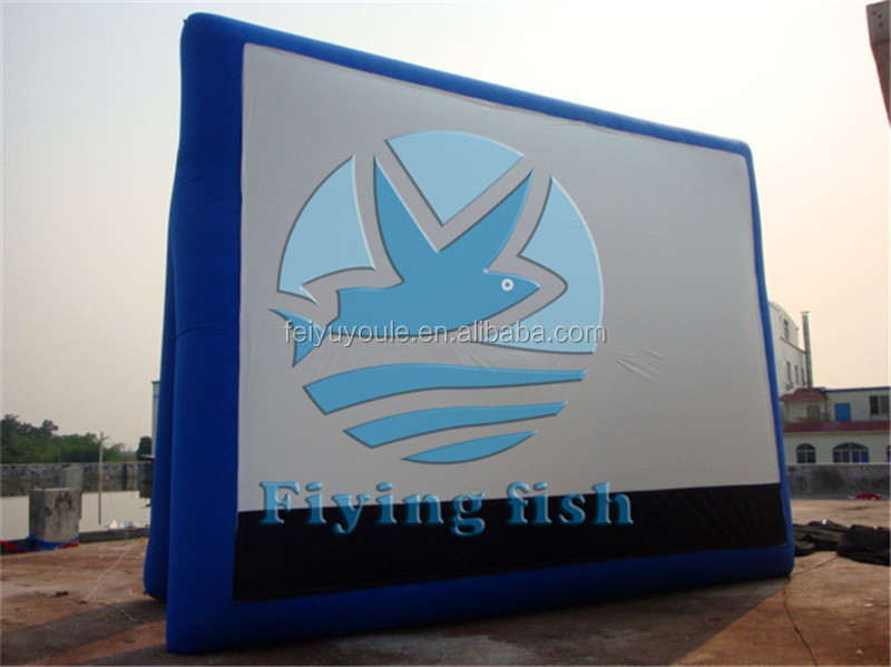 2016 hot sales inflatable movie screen,outdoor inflatable screen,inflatable screen projector