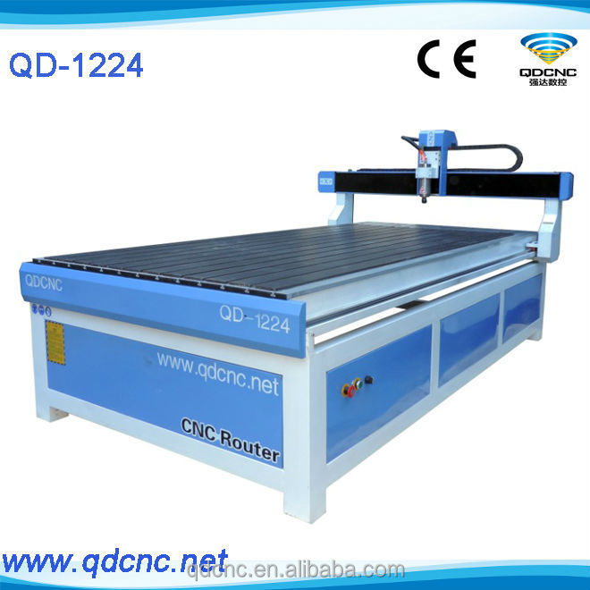 CNC Router Machine for Furinture working QD-1224 wood cnc router rotary / wood pillar cnc router