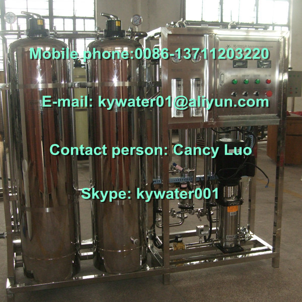 Automatic control 1T/H ro pure water plant for cosmetic,pharmaceutical,chemical industries,food and drinking water