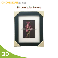 Home decoration items PP/PET 3d lenticular picture with frame wenzhou manufacturer