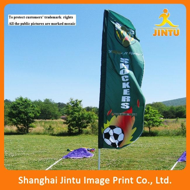 2016 decorative advertising wind flags and banners bowed flag stands display