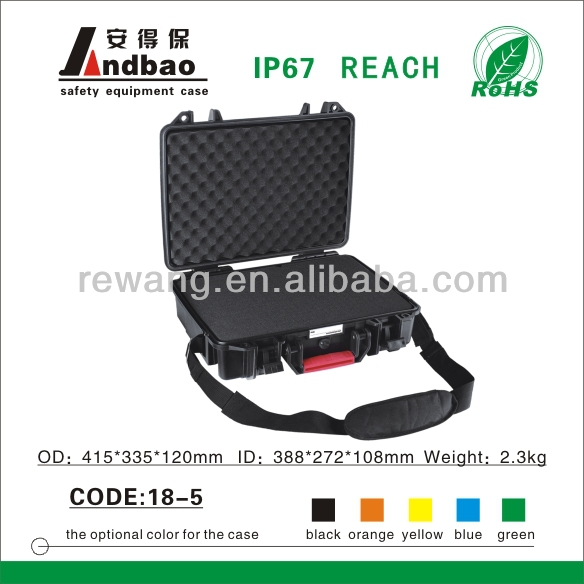 plastic trolley tool case with die-cut foam insert
