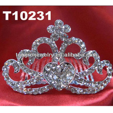 mini glitter crystal baby tiaras wholesale
