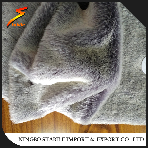 STABILE cheap fake faux fur fabric artificial racoon fur for blanket