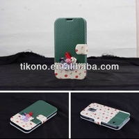 Stylish wallet smart cover for galaxy 9600,for samsung s5 phone case