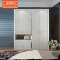 Wholesale custom furniture bedroom white wooden swing door cheap wardrobe
