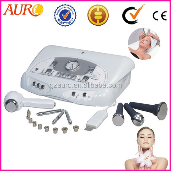 AU-6801 with hot cold hammer ultrasonic/ ultrasound skin scrubber face peeling microdermabrasion machine/ equipment