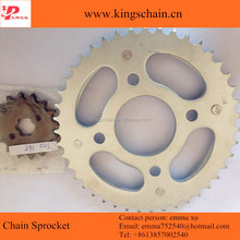 Galvanized 45# steel CG 150 TITAN chain sprocket kit 43/16T for motorcycle