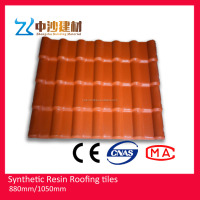 Synthetic resin light weight roof tiles much easier install and repair than heavy terracotta ceramic roofing tiles