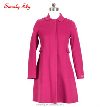 Spring Autumn classic wool dress coat ladies tops clothing factories in China