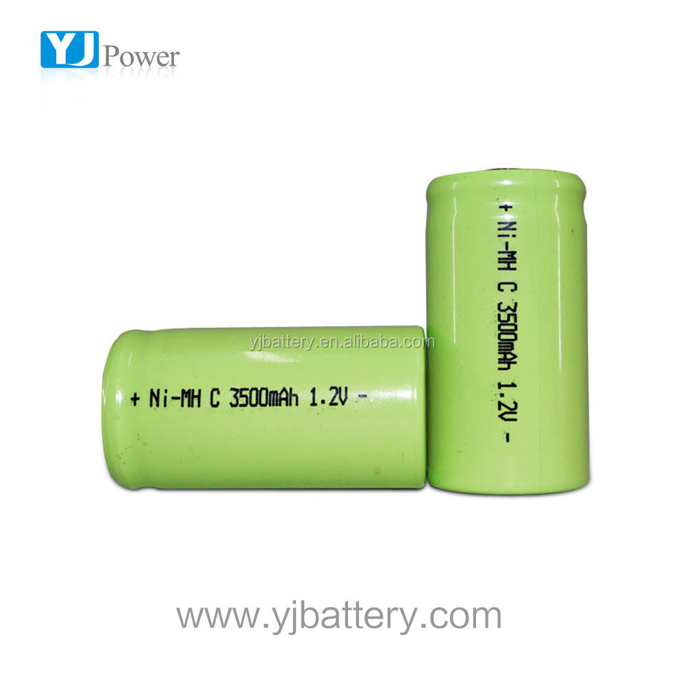 Rechargeable nimh battery 1.2v c 3500mah battery cylindrical battery