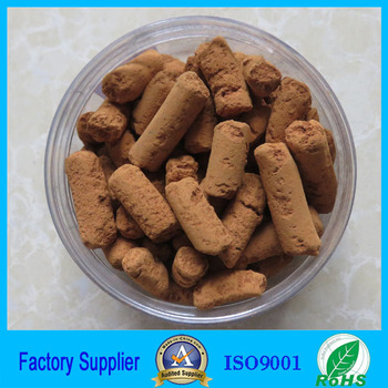 China Fe2O3 iron oxide pellets for home biogas systems
