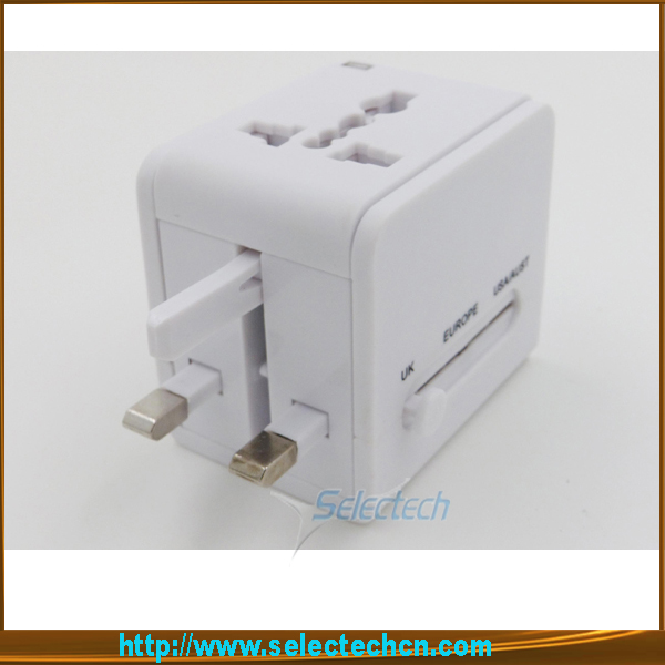 Promotion gift world power adapter AU US UK Plug Adapter universal travel multi usb adapter