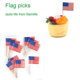 custom logo Advertising/promotional paper toothpick flag length 6.5cm pack 100pcs
