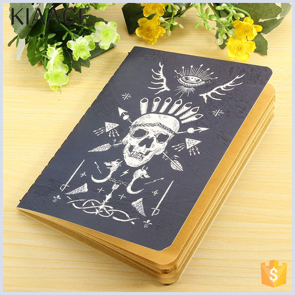 High quality coated paper custom art design exercise note book