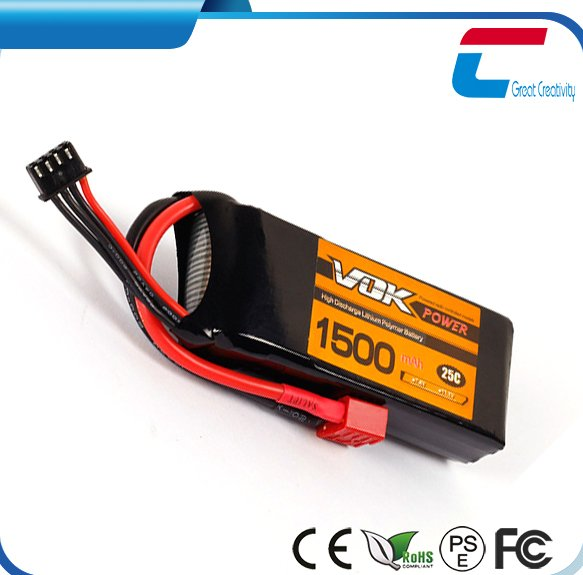 7.4V 1500mah 2S 25C lipo rc batteries for sale for rc helicopter airplane car