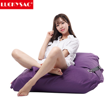 LUCKYSAC China supplies new design cheap purple bean bag cover waterproof sleeping sofa bean bag bed