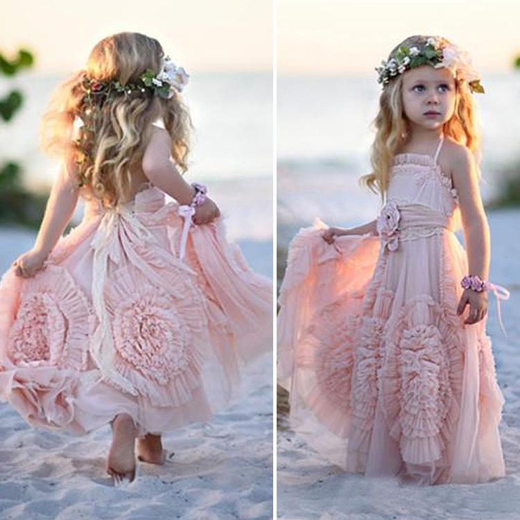 Dentelle fleur fille robe de mariage de demoiselle d for Fille fleur robes mariage