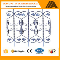 AJFP-027 wrought iron rosettes and panels.ornamental cast iron panels