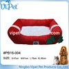 Low price christmas bright colored pet bed