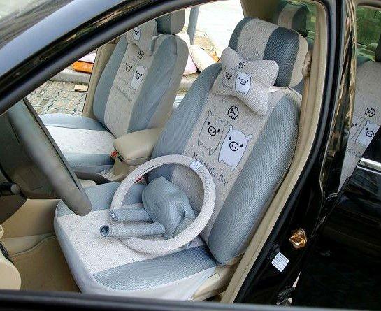 18 unids snoopy asiento de coche cubiertas de coches - Accesorios coche interior ...