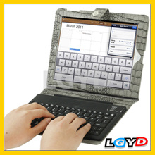 Best Bluetooth 2.0 Version 76 Key Silicone for iPad 3 bluetooth keyboard case with Lizard Texture /for iPad 2