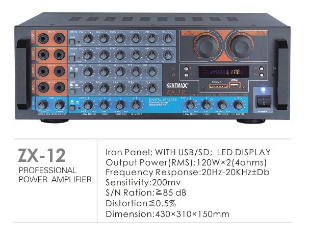 Factory professional amplifier with USB SD FM bluetooth
