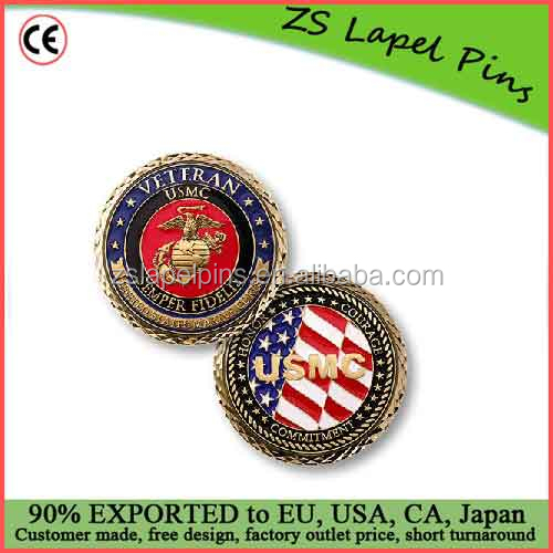 Personalized quality U.S. Marine Corps Veteran Coin