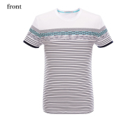 Stripes print blank man custom izable designs short sleeve t shirt