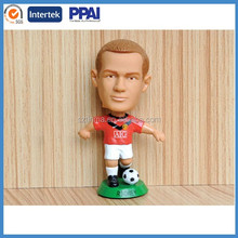 Plastic football player for world up;famous men soccer player;football player doll