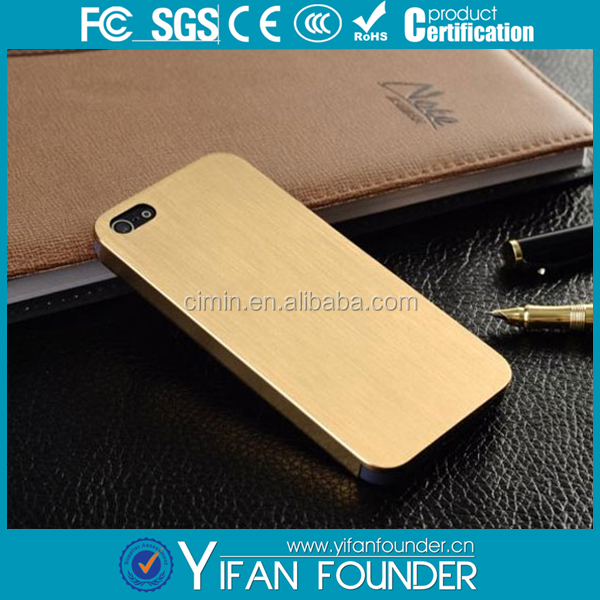 Customized Laser Engraving Blank Smooth Brushed Aluminum Metal Phone Case For Iphone 5