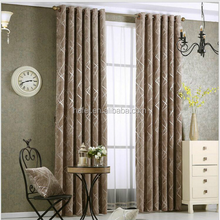 Fashionable simple design chenille jacquard blackout curtain drapery