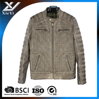 2016 custom men's winter jacket , men casual Motorcycle Leather Jackets