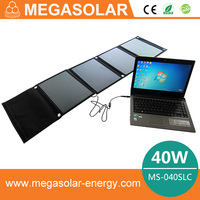 40W Folding Portable Solar Laptop Charger