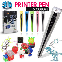 Upgraded Version1.75mm ABS/PLA 3D Printing Pen With Free Filament 3D Pen Adapter Creative Gift for Kids Printer Pens