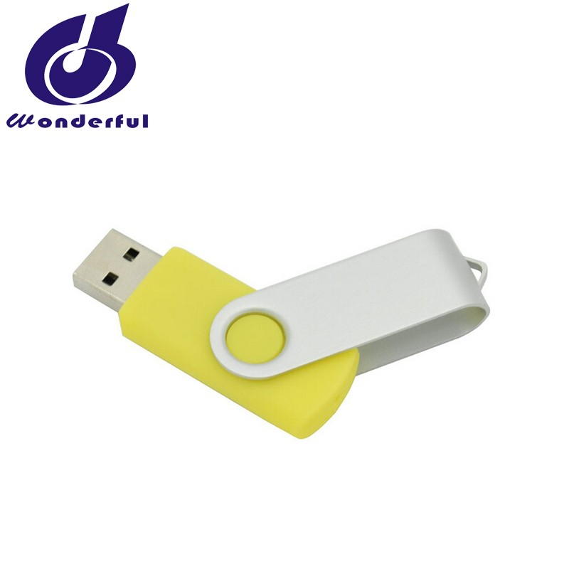 Metal Rotatable Card USB Flash Drive Disk Swivel USB 2.0 Flash Memory Drive Customized Gift USB Flash Disk