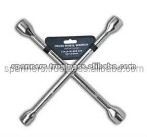 Cross wheel spanner repairing tool