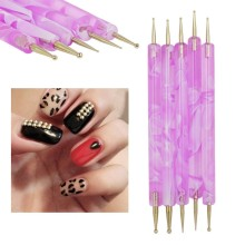 Double End Fashion Beautiful Brush Purple Art Nail Dot Pen
