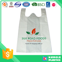 wholesale plastic t shirt customized cheap singlet bag for shopping
