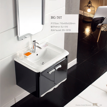 Best-selling Two Doors Popular Bathroom Cabinets with ceramic sink