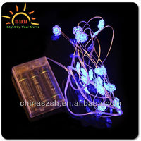 Cool Blinking Gifts Fashionable Light Up Flashing LED Mini Copper Wire String Lights, Snowflake Christmas Lights String