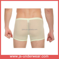 Hot selling mans sexy underwear briefs boxers transparet your own brand underwear wholesale manufacturer