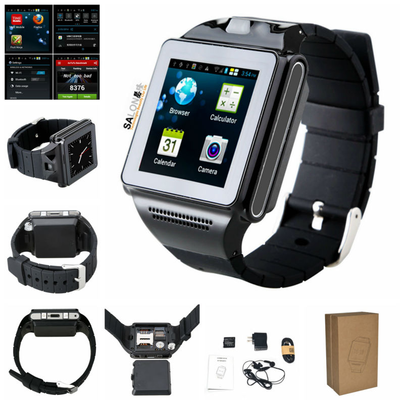 Best Selling MTK6577 Dual Core Android 4.04 multimedia watch phone