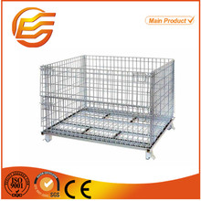 Factory price galvanized metal wire mesh cage with caster
