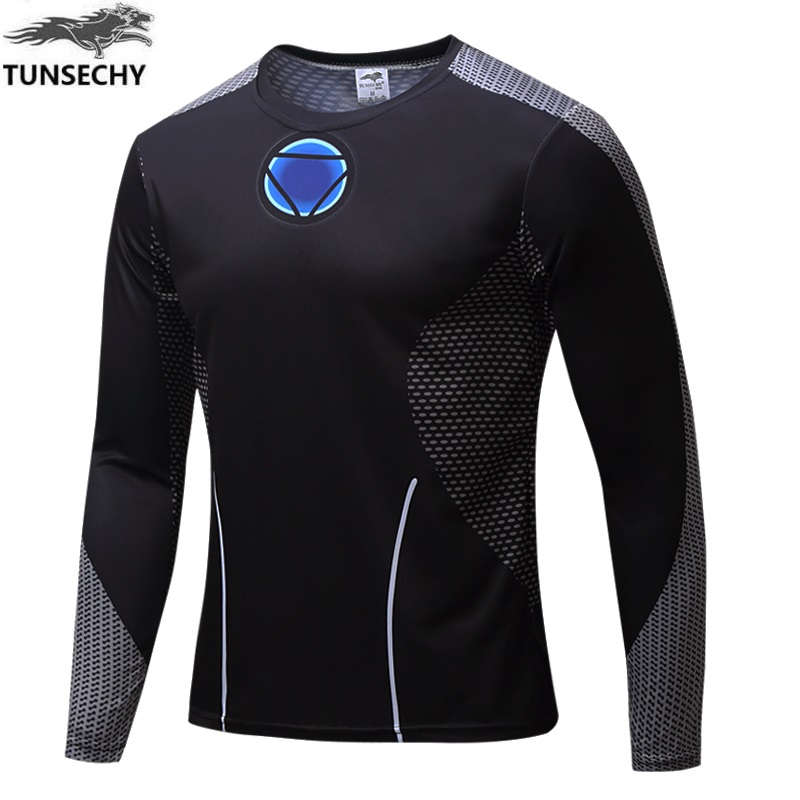 TUNSECHY Brand 2017 Superhero Compression <strong>Shirt</strong> 3D Captain America Punisher Bodybuilding Crossfit Long Sleeve Men t-<strong>shirt</strong>