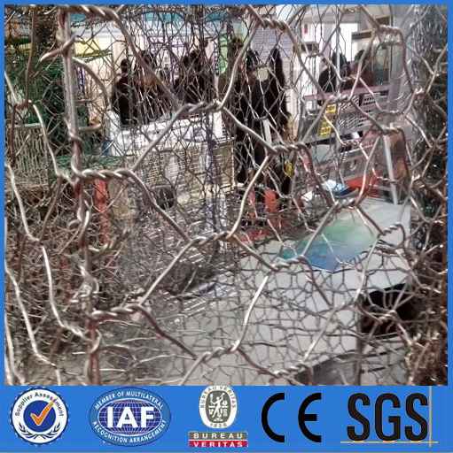 china suppliers Sand filled gabion / military gabion hexagonal wire netting