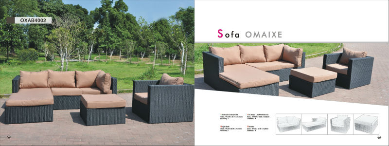 corner alu frame outdoor sofa garden sofa garden furniture
