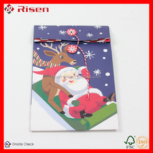 popular colorful new design paper christmas bag snowman